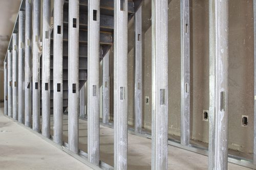 Metal Stud Framing in Commercial Space